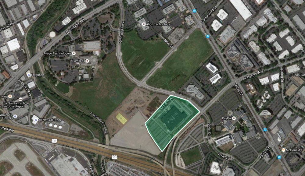 Apple's initial land transaction in north San Jose.