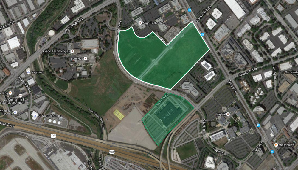 Apple's second land transaction in north San Jose.