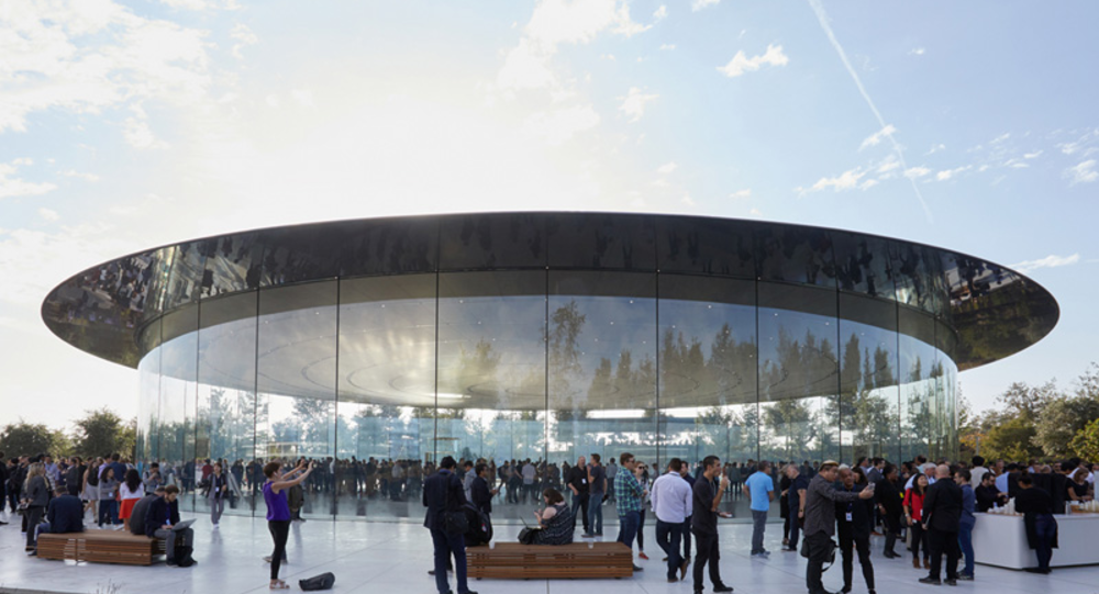 Steve Jobs Theater. Photo credit: Apple