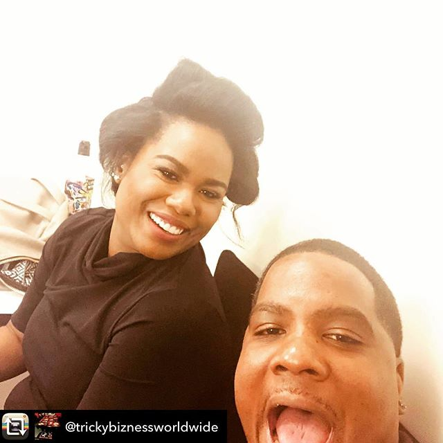 ...only took over a decade of working together for me to finally get a selfie with @trickybiznessworldwide 😂 #WeWorkin #Greenleaf #OnSet