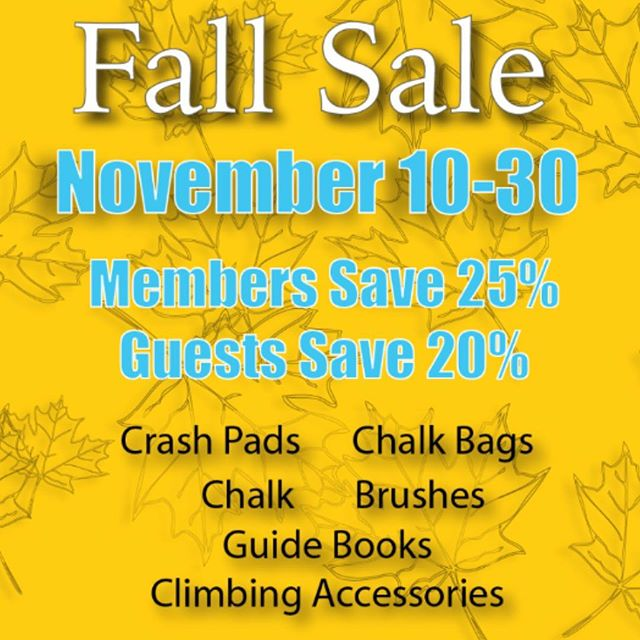 We want to help you get ready-to-go for the season! Cold weather is right around the corner...and that means some sick sends are in the future! If you have gear needs, or just want some extra supplies, we'll be doing some heavy discounting for everyone starting tomorrow! Don't miss out! // . . . . . #rockclimbing #climbon #climbing_pictures_of_instagram #climbing #bouldering #downtownbham #climbingisbliss #climbinginspiration #alabama #firstavenuerocks #firstaverocks #accessfund #liveclimbrepeat #instagrambham #happyclimbing #climb #rockclimber #themagiccity #birmingham #climbinggym #boulderinggym