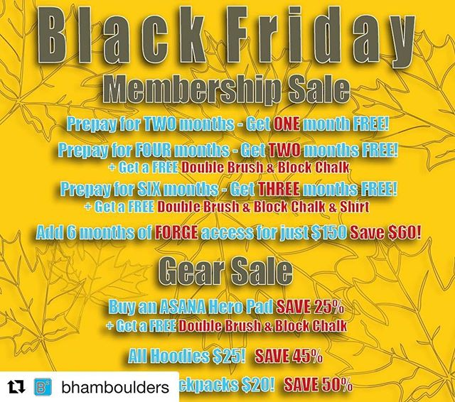 We've got those sales, and we're open our regular hours today! Come on in and get in that sweet action! - #Repost @bhamboulders with @get_repost ・・・ We ARE open today, and we've got some cool stuff going on today only! We'll be rockin' along like it's a normal day, but these sales mean it's anything but a normal day! Take advantage while you can! - https://www.boulderingauthority.com - Memberships can be purchased online, as well as in-house. Retail items are in-store only. Come get strong with us! // . . . . . #rockclimbing #climbon #climbing_pictures_of_instagram #climbing #bouldering #climbingisbliss #climbinginspiration #alabama #birminghamboulders #bhamboulders #accessfund #liveclimbrepeat #instagrambham #happyclimbing #climb #rockclimber #themagiccity #birmingham #climbinggym #boulderinggym #firstaverocks #firstavenuerocks #downtownbham