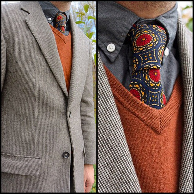 Russet and tweed. #menswear #mensfashion #fashion #wiwt #clubmonaco #jcrew