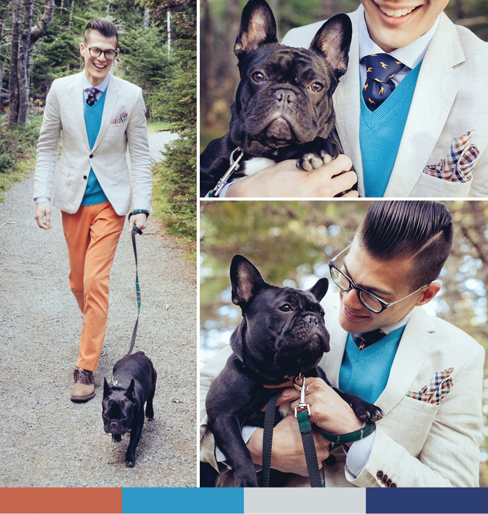 bows-n-ties :      Chris Nicholas  modeling for our  DogsNTies fundraiser  (image source:   BNT  )