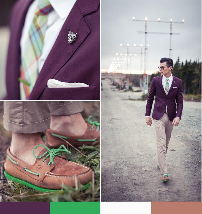 bows-n-ties :     Purple & Green  by Chris Nicholas