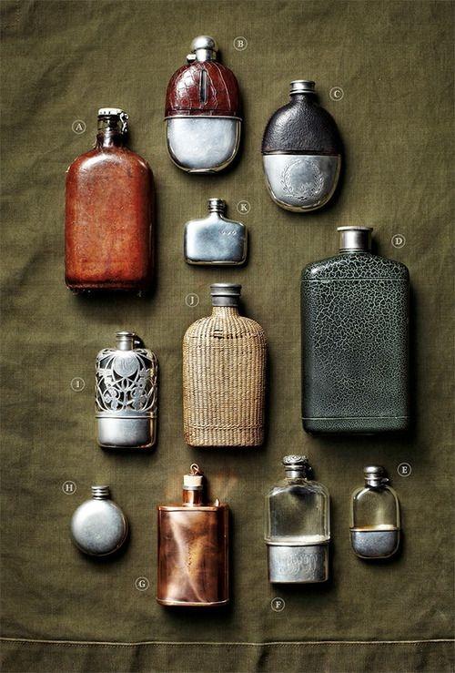 vintage flasks.