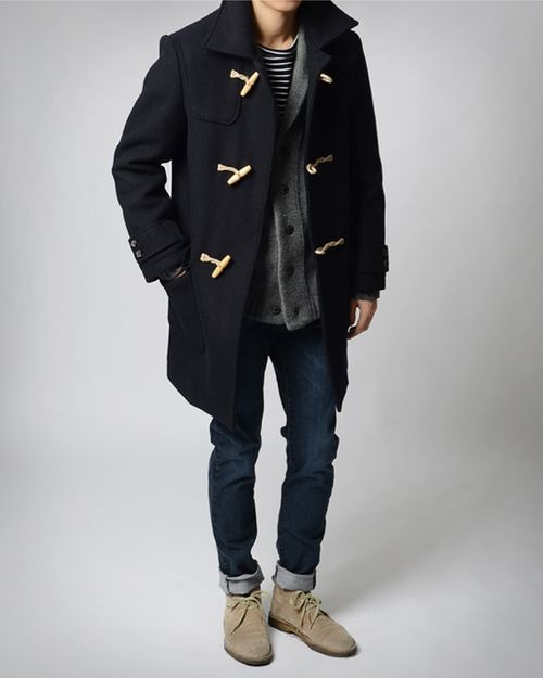 i love this coat. its hard to find a duffel coat without a hood.