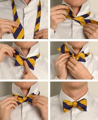 learn how to tie a bowtie.