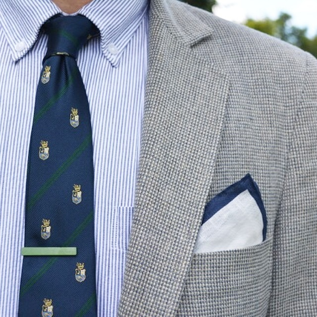 Tie. Pocket square. Tie clip. Awesome trio from @bows_n_ties! #menswear #mensfashion #fashion #style #wiwt #brothersandcraft #featuremensfashion