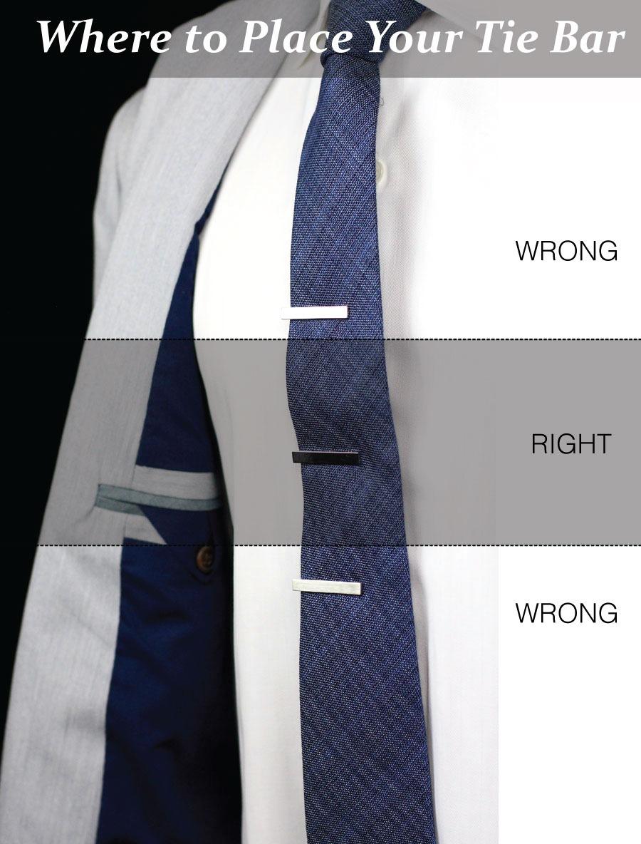 bows-n-ties :     Tie Bar Sweetspot (image via  Tie-a-Tie )