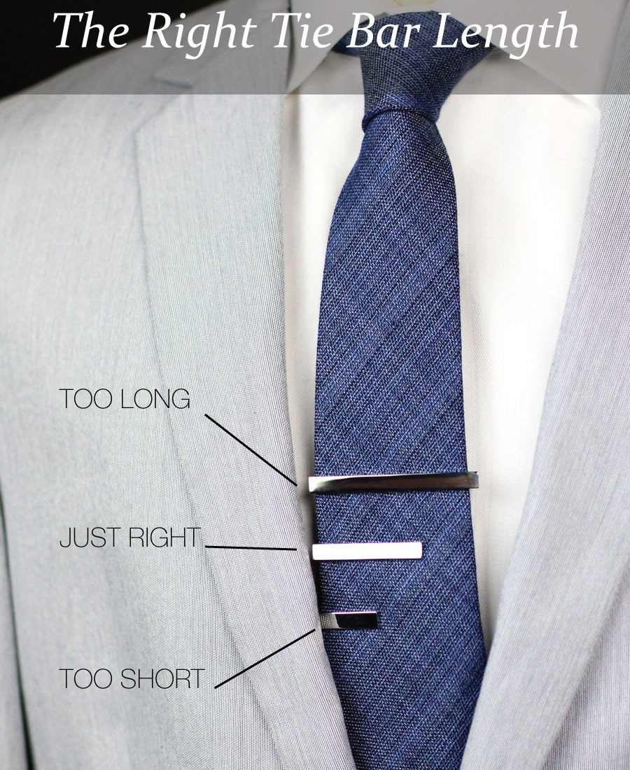 bows-n-ties :     The right tie bar length (Image via  Tie-a-Tie )