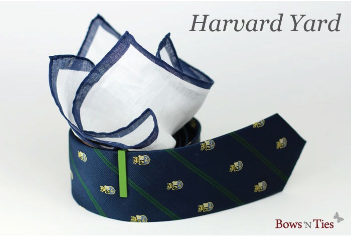 """bows-n-ties :     Our """"Harvard Yard"""" Combo is currently sitting in 3rd place after just over 200 votes. Vote on your favorite tie combo to win a combo of your choice.  CLICK HERE  to cast your vote."""