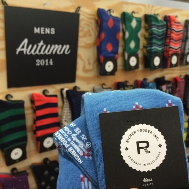 Love me some @richerpoorer socks! #capsuleshow #menswear #nyc