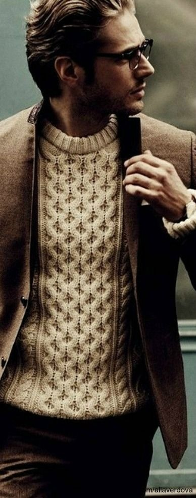 good use of a textured sweater.