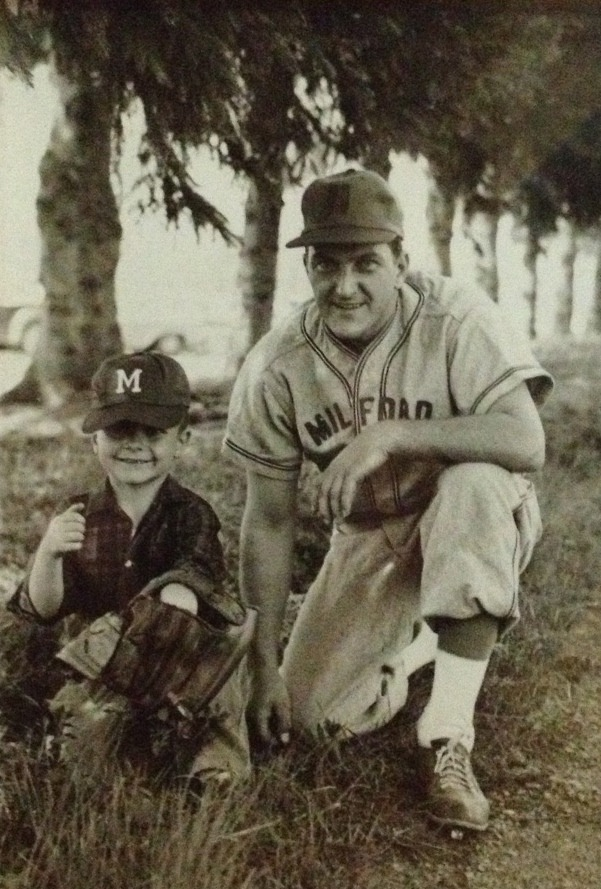 Hey everyone! I've recently collaborated with Oral B on a social media campaign for this upcoming Father's Day. This is a photo of my dad and grandfather from 1962. My grandfather was on a farm team for the New York Yankees called the Milford Macs. Through this social media campaign i hope to get all my followers on board too. You can do this by simply finding and posting photos on your social media outlets that remind you of your childhood, your Dad or Father's Day. Finally, once you find a great photo use #powerofdad. Through this unique hashtag we can create a photo community of past generations. Good luck!