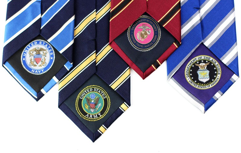 bows-n-ties :     This limited collection of military ties was created to honor our servicemen and women. All proceeds are being donated to an organization helping soldiers suffering from PTSD. We only made 100 ties for each of the four military branches. For more information, as well as to order one of these ties,  CLICK HERE