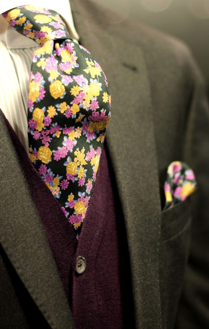 bows-n-ties :     Tired of solids, stripes, and even plaids? Then how about one of these florals?