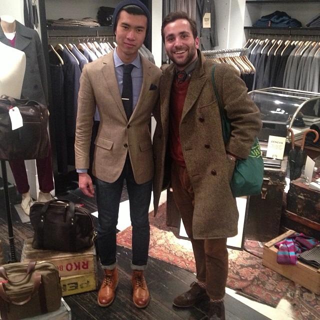 Menswear meet up with my bro @jasonchew_  (at Club Monaco)