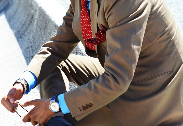 never match your tie with your pocket square.