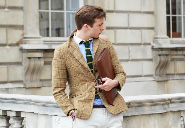 this is a really nice look. ive been into square bottomed knit ties lately.