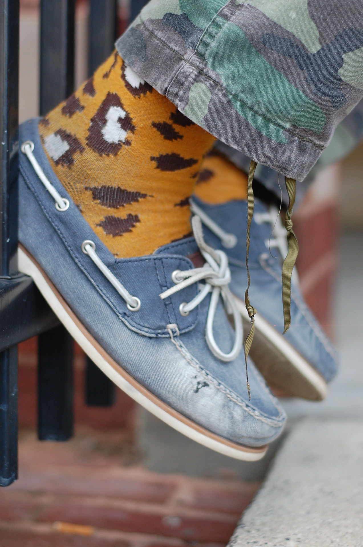 i really love funky socks like this. gives a whole new meaning to dressing casual and cool. my type of style.