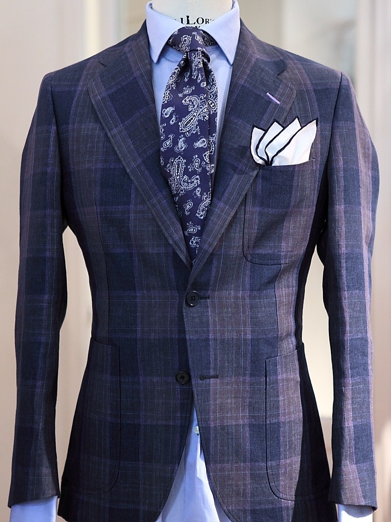 this is a really nice look. i love ties like this and simple pocket squares are great!
