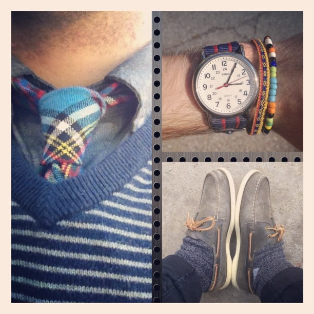 Black and blue. Reppin that #capsuleshow #bracelet. Can't wait to go back next year! #menswear #mensfashion #menstyle #mensstyle #fashion #fallfashion #style #stylebible #fashionstudy #timex #watch #watches #jcrew #sweater #levis #jeans #prep #preppy #jj #jj_forum #insta #instago #instapic #instacool #instagood #instadaily #instaphoto #instafamous  (Taken with  Instagram )