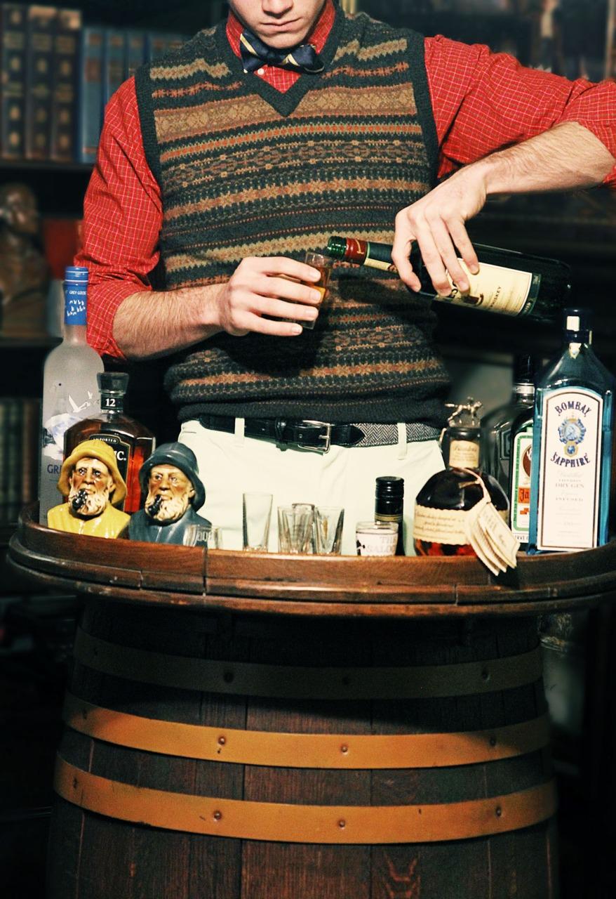 preppy bartender.