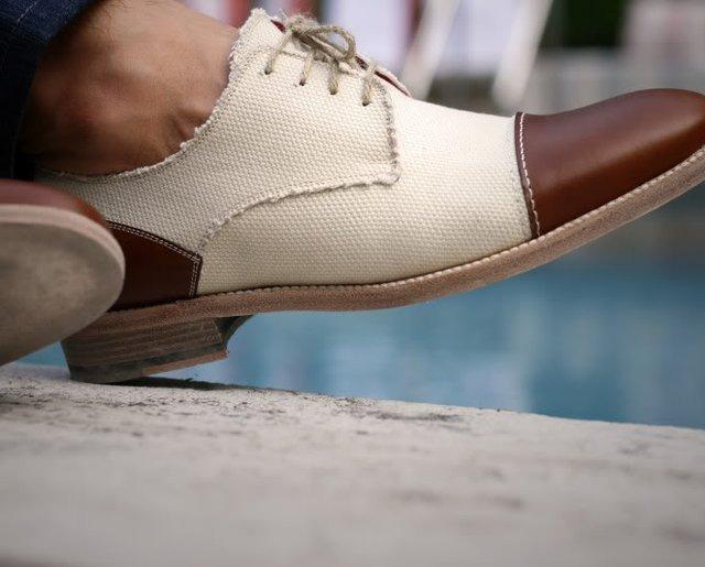 toe capped shoe.