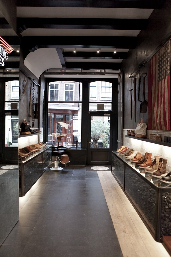 Red wing shoe store Amsterdam.
