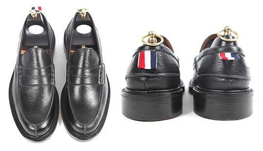Thom Browne leather moccasin.