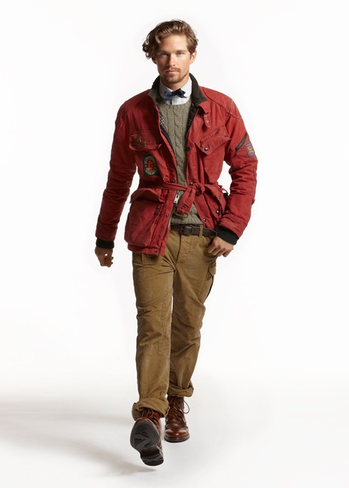 ralph lauren fall 2012. i think this look would be better without this tied around the waist.