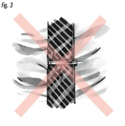 figure 3! your tie bar should NOT be longer than the tie itself!