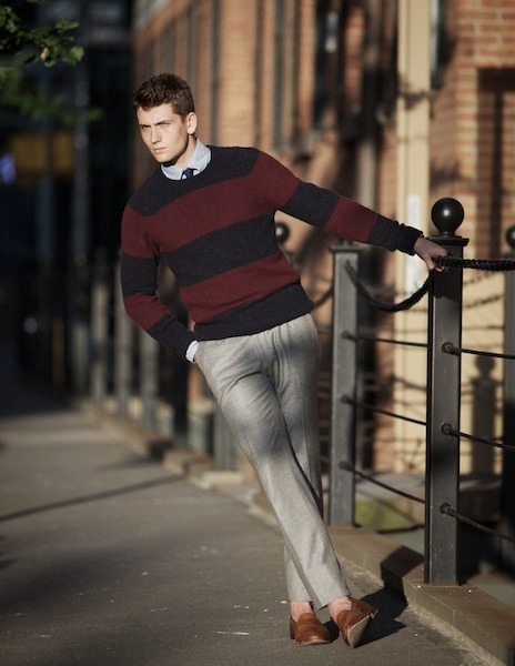 love this look. i dont see many stripes sweaters like this anymore. so class and good! favorited!