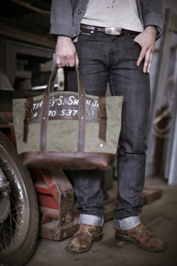 love this tote + whole look. rugged.