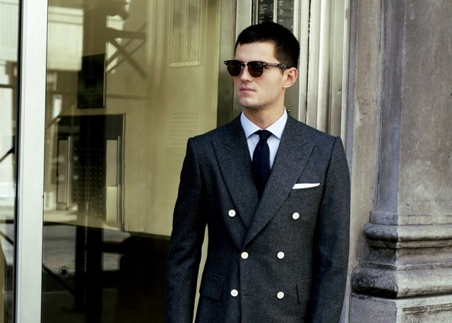 diggin this double breasted jacket + entire look.