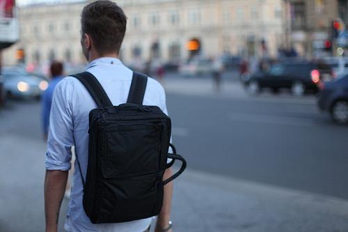 simple black bag.