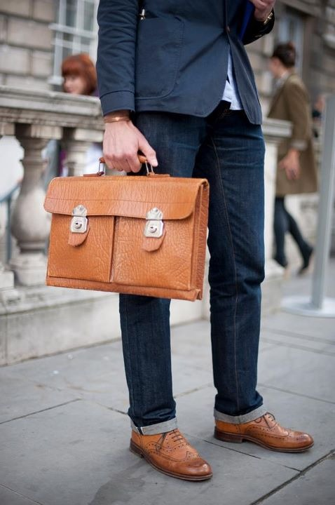 another lovely tote + brogues.