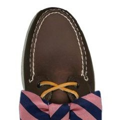 bow tie boat shoe.
