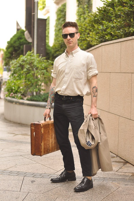 great look!   WANT   that briefcase! ive been looking one like that forever!