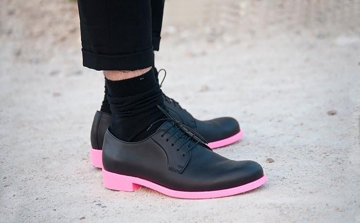 pink soles.