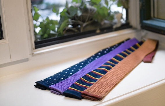 square bottomed ties.