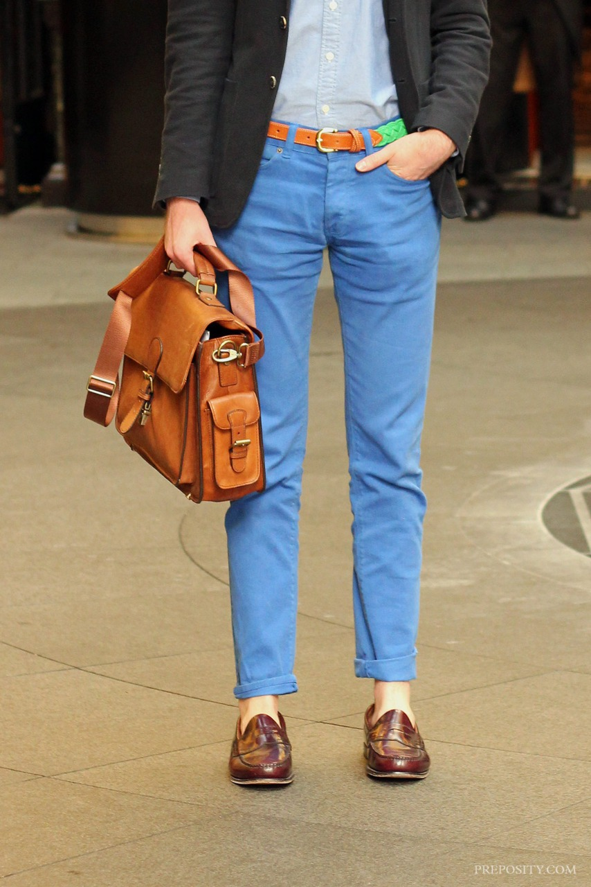 blue chinos done right.