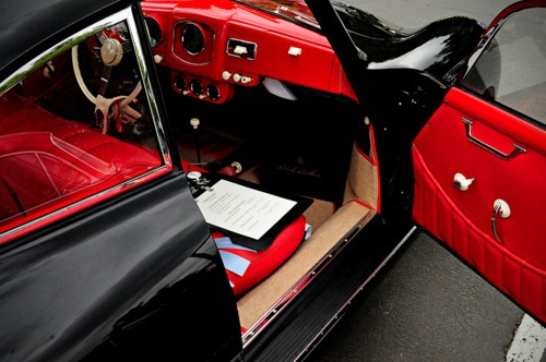 black on red interior.