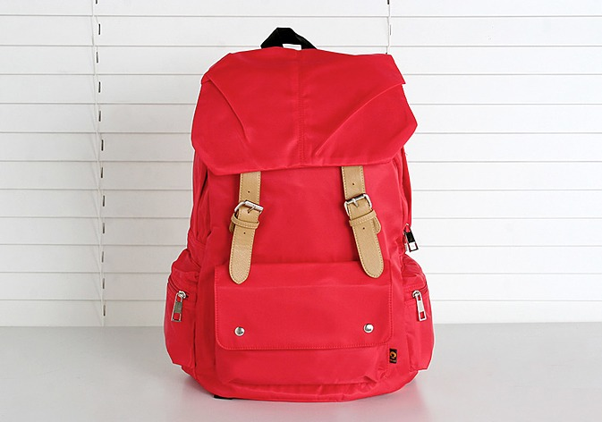 red backpack.