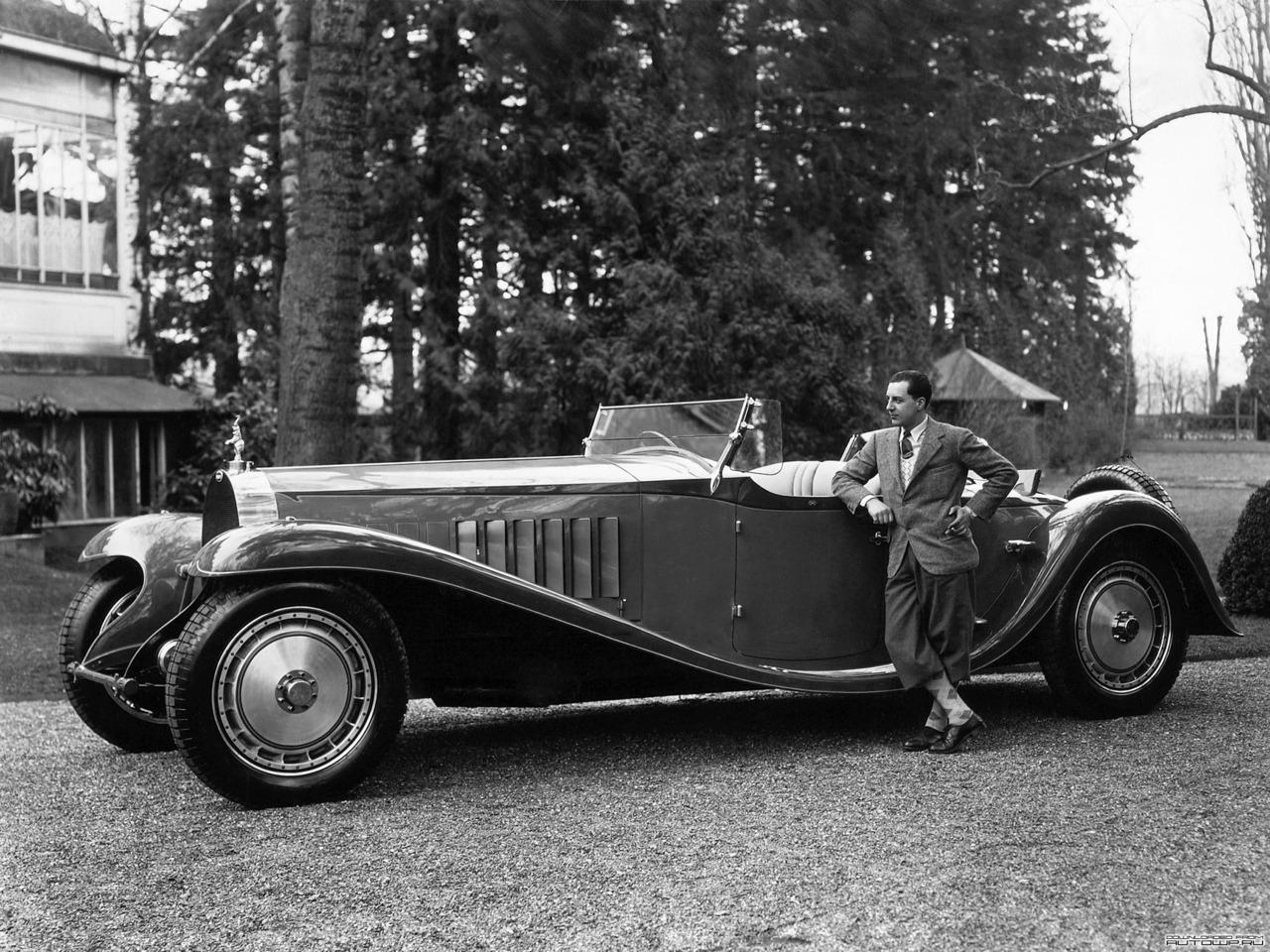 thegiddyline: Jean Bugatti with aBugatti Type 41 Royale.