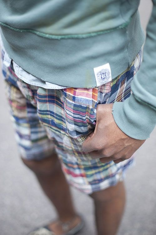 evolutionofagentleman: Rugby madras shorts.. sick!