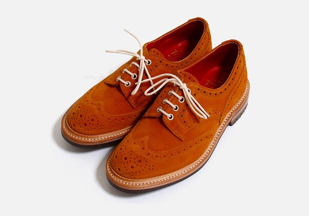 onedocumentedobsession :        S/S Suede Longwing Roundup    Tricker's Orange Derby Wingtips     WANT.