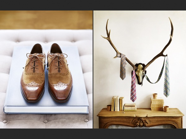 wow. forget the shoes. this is a GREAT way to prop style ties. i love this!