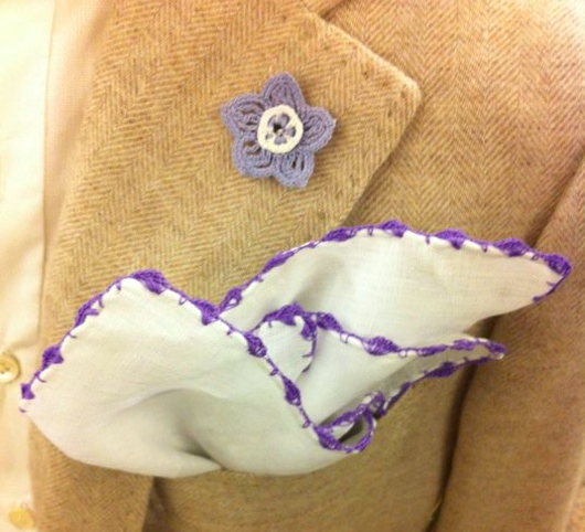 thestylebuff :     Lapel Flower and Pocket Square, Sartoria G. Inglese